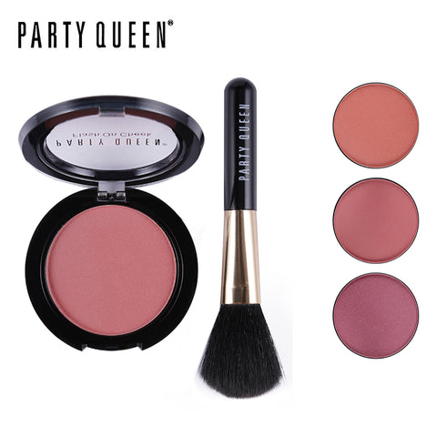 Party Queen New Mineral Sleek Sculpting Blush Blusher Palette With Brush Makeup