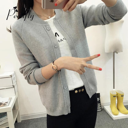 Casual Women Spring Autumn Cardigan Sweaters