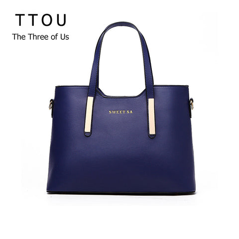 Luxury High Quality PU Leather Top-handle