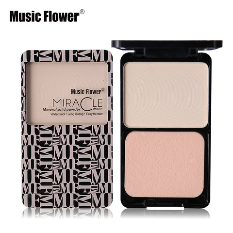 Music Flower Matte Shimmer Fix Pressed Powder Palette