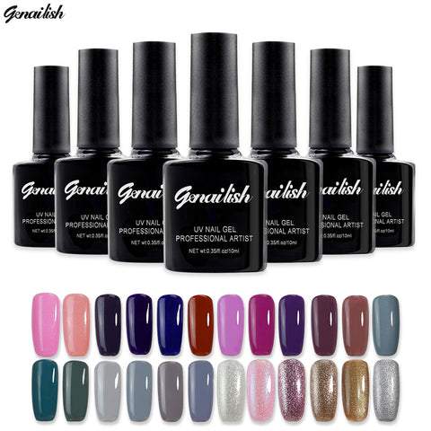 168 Colors Gel Nail Polish UV Gel Polish Long-lasting Soak-off LED UV Gel Color Nail Gel 10ml/Pcs