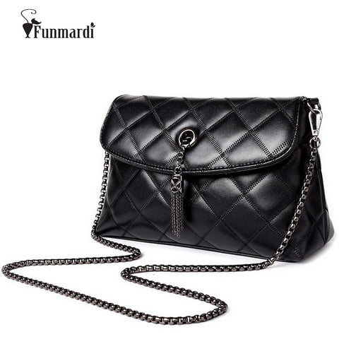Quilted Leather Chain Cross-body Handbags