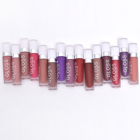15 Colors Matte Nude Lip Gloss Waterproof Long Lasting