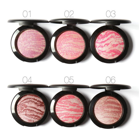 Professional Blusher Natural Pigments Minerals Shimmer Baked Nude Bronzer Blush