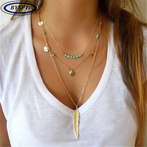 BYSPT Ethnic Coins Necklace