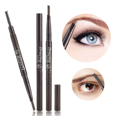 Double Automatic 5 Colors Waterproof  Eyebrow & Eyeliner Long-lasting Pencil With Brush