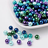 4mm 6mm 8mm Mixed Color Pearlized Glass Pearl Beads  1mm