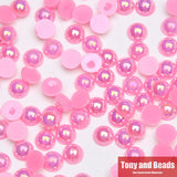Acrylic Beads Pearl Imitation Half Round Flatback Bead Pick Color