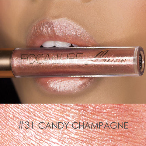 New Glitter Lips  Pigment Gold Nude Mermaid Shimmer Metallic
