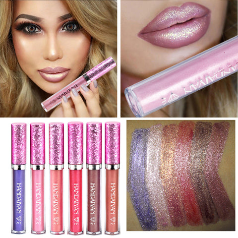 Diamond Shine Metallic Lipstick Gold Lip Gloss Glitter