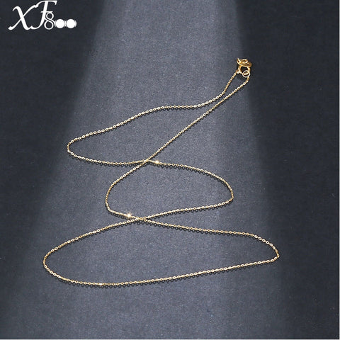 18 inch Pure 18K Yellow  Gold  necklace Chain