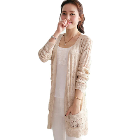 Beach Cardigan Hollow Out Knitted Sweaters