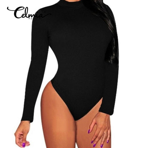 Casual Bodycon Bodysuits Rompers Jumpsuit Sexy O Neck