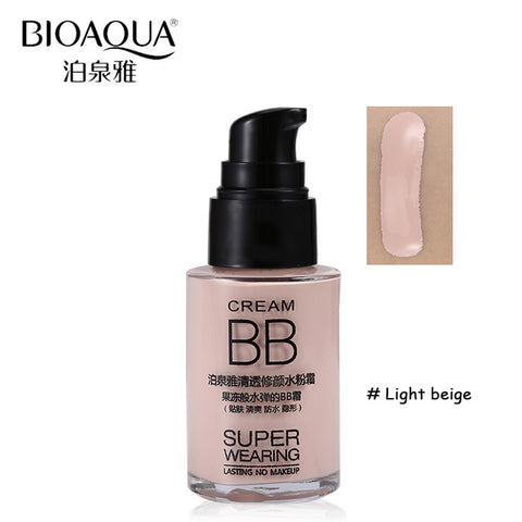 BB face Cream Concealer Waterproof Liquid Foundation Moisturizing Whitening Oil-control 30ml