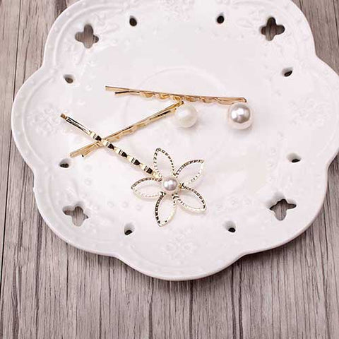 3pcs/lot Fashion flower Gold-plated Hair Accessories