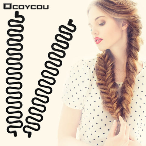 2 Pcs Roller Hook With Magic Hair Twist Styling