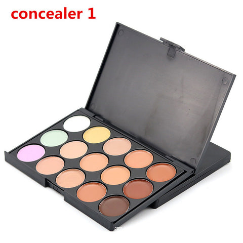 1pc 10*15cm Natural Professional Concealer Palette 15 Colors