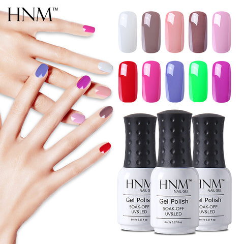 HNM 28 Colors 8ML Gel Nail Polish UV Nail Gel Polish Soak Off