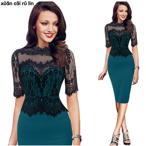 High Quality lace Embroidery bodycon bandage fashionable Dresses