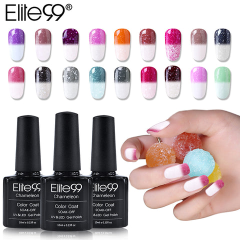 Elite99 10ml Snowy Thermal Chameleon Gel Temperature Change Color Mood Gel