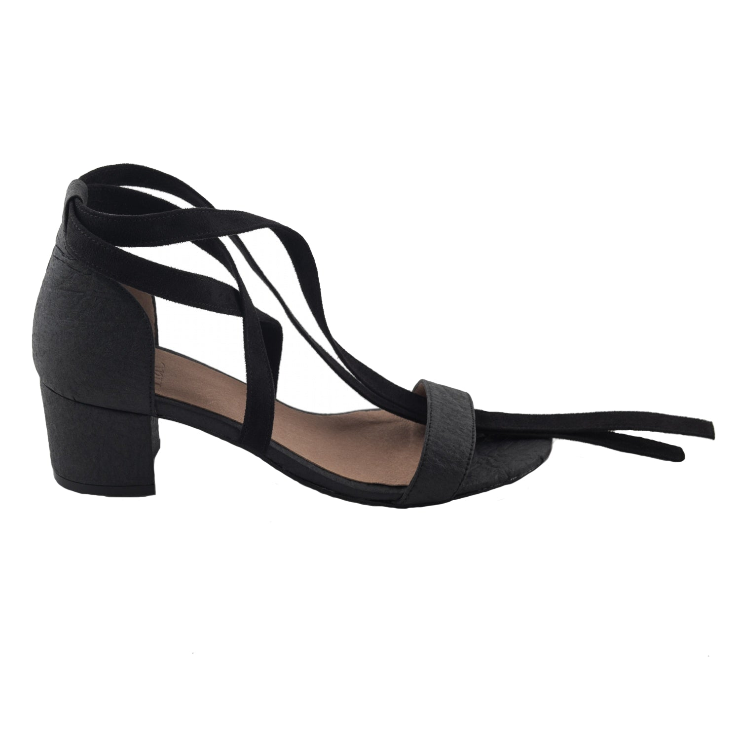 4aeedca766bc ... vegan sandals shoes mid heel strappy black Piñatex by NAE Clau pinatex  ecofriendly ...