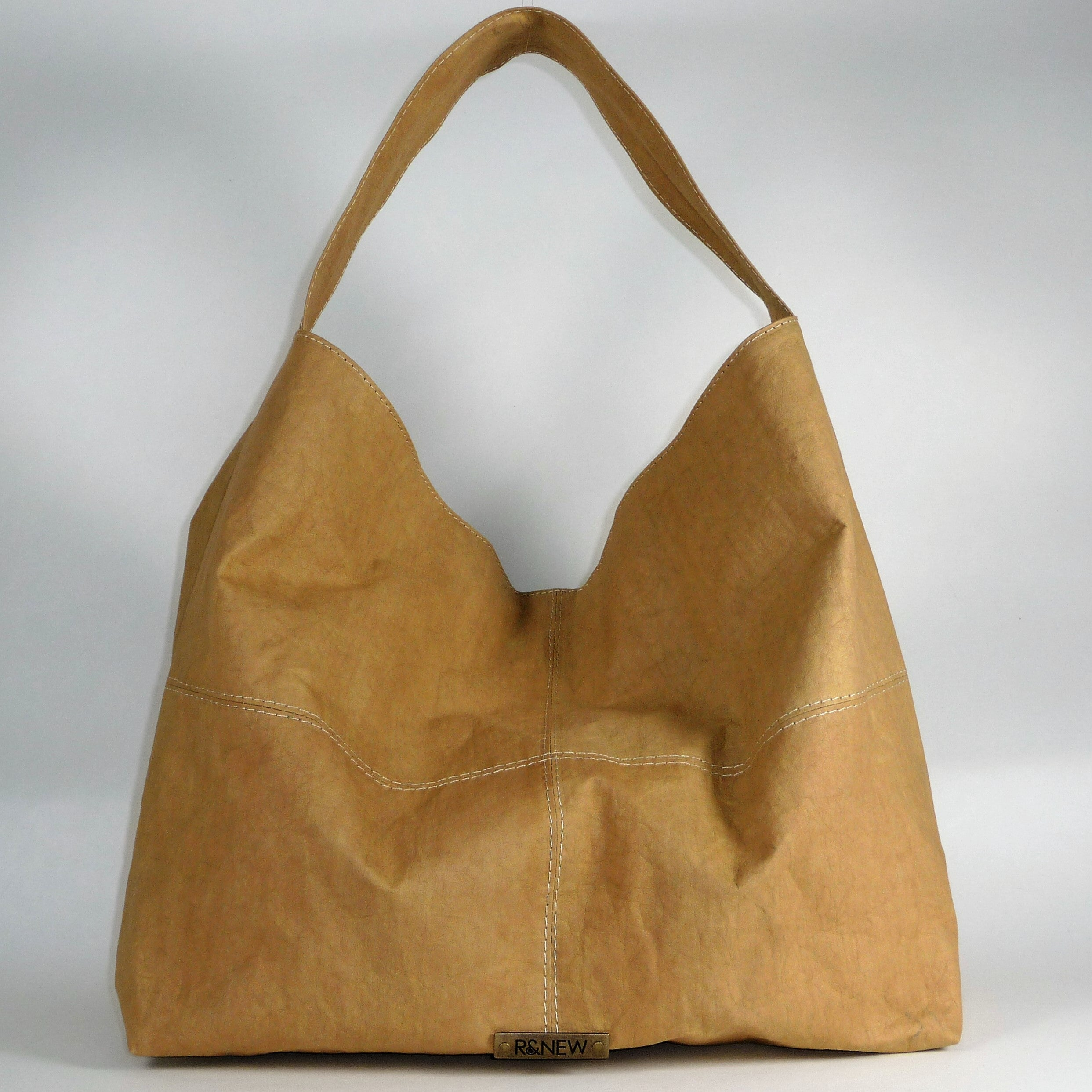 Vegan HOBO bag in Desert Paper Eco Leather by R New - peryan vegan 2d01f7e728ee1