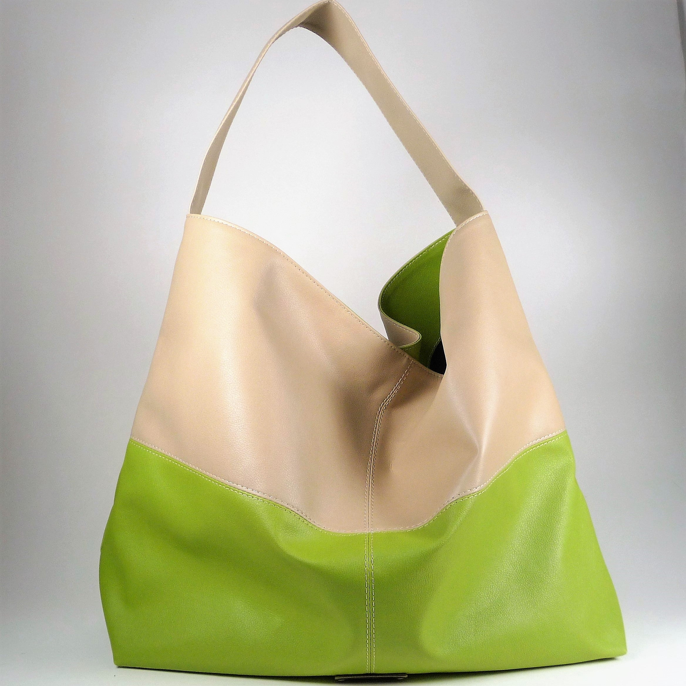 Vegan HOBO bag in Apple Eco Leather by R New - peryan vegan a5a8464cbd259