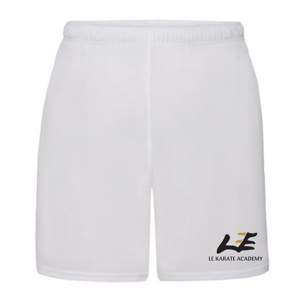 Le Karate White Performance Shorts
