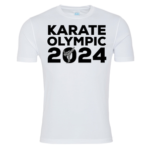 Karate Olympic 2024 T-Shirt (White-Black)