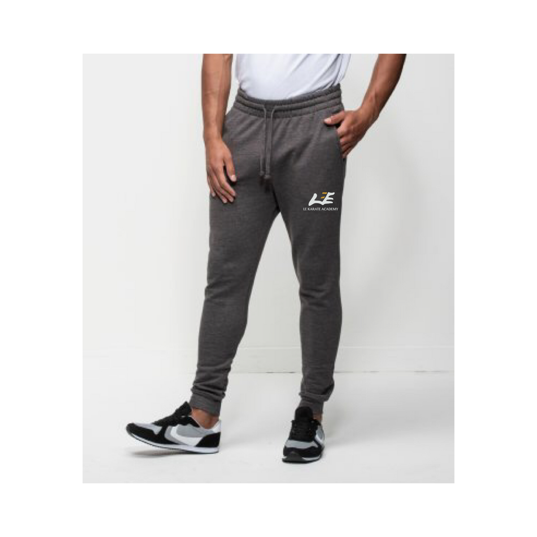 Le Karate Grey Printed Tapered Joggers
