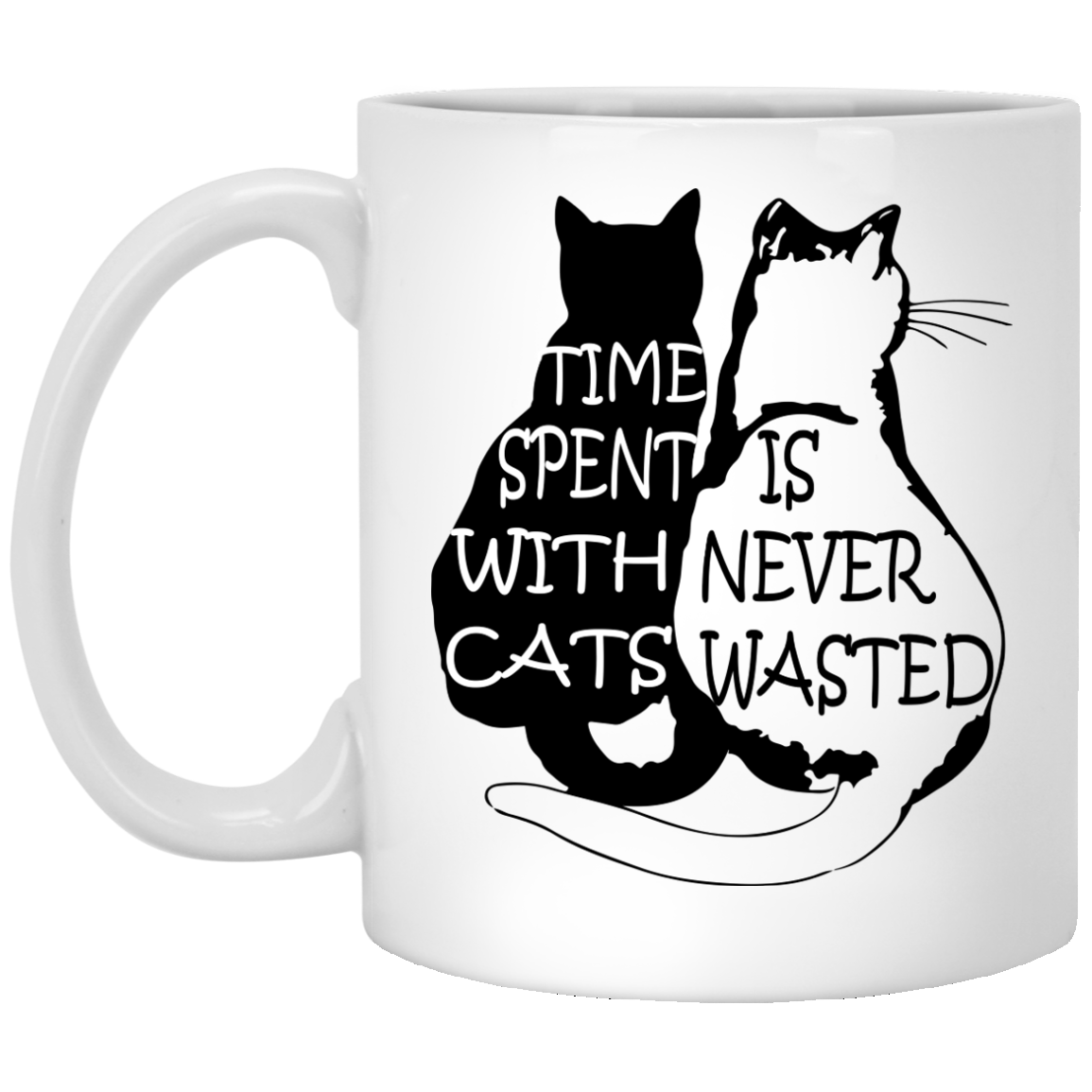 Time Spent With Cat Is Never Wasted Mug