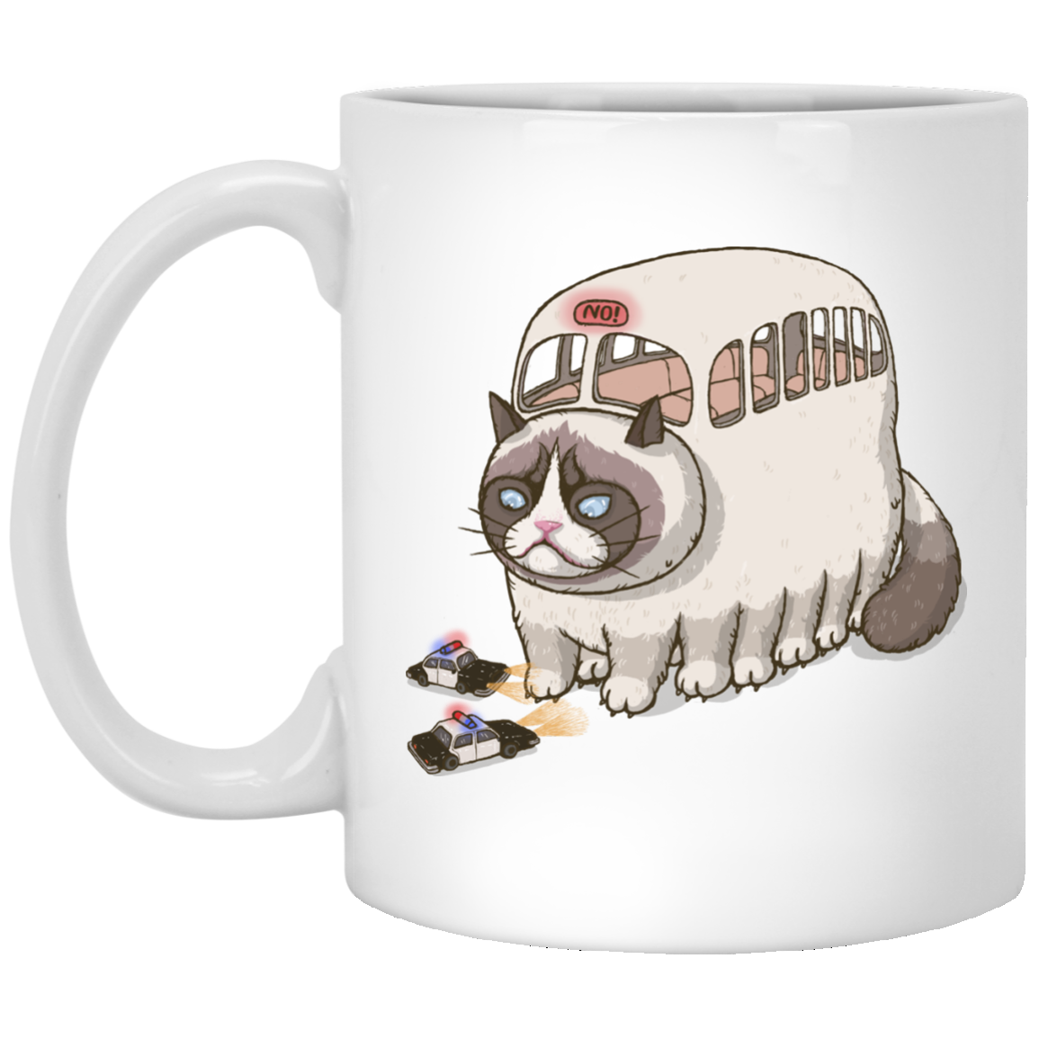 Grumpy Cat Bus Mug