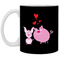 Pig and Bunny Beautiful Mug
