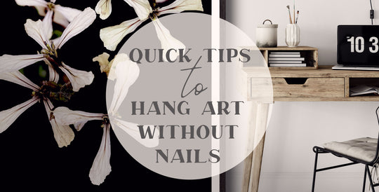 Paper and Flower Art Prints | Blog | Quick Tips to Hang Art