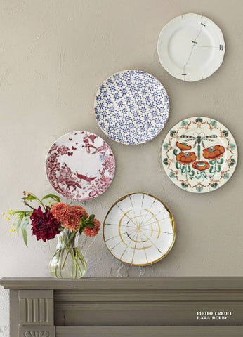 Image Credit Lara Robby Plates on Wall | Blog | Paper and Flower Floral Art Prints