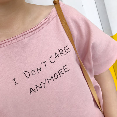 Toddler Girl Shirt | 'I dont care' Shirt Girl