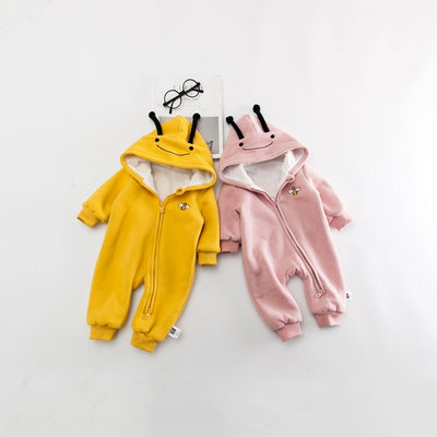 Baby Mini Zip Romper | Cute Bee Cos Cotton Romper