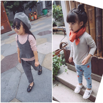 Toddler Girl Shirt | Ins Fashion Single Color Shirt Girl