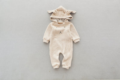 Baby Mini Zip Romper | Rabbit Cos Corduroy Romper