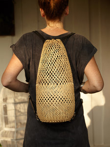 Rattan & Leather Backpack - BintikBintik