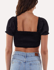 Noah Crop Top Black