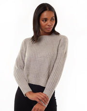Tash Sweater Grey Marle