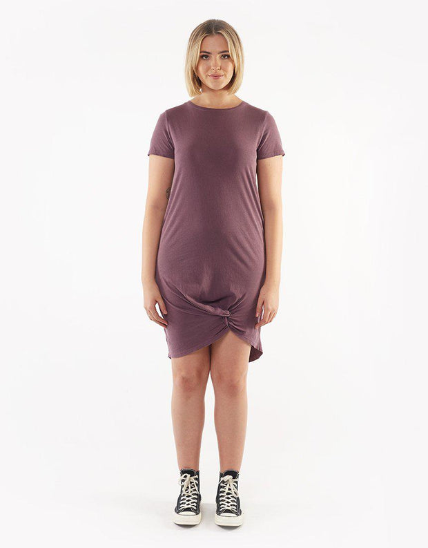 Twisted Tee Dress Grape