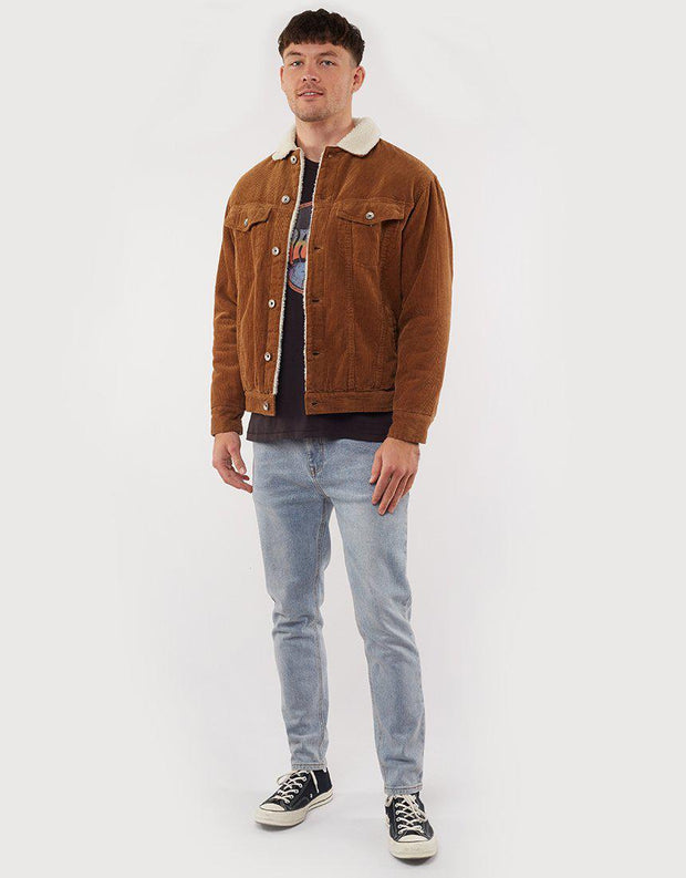 Shook Cord Sherpa Jacket Tan