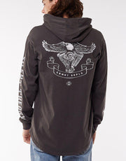 Motor Hooded Ls Tee Coal