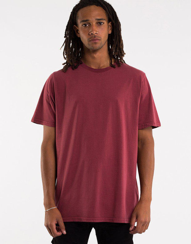 Relaxed Tee Burgandy