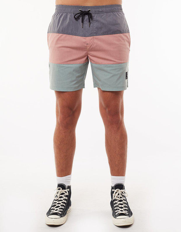 Stacked Ew Short Char/ash Rose/green