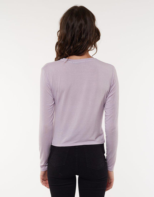 Twined Long Sleeve Lavender
