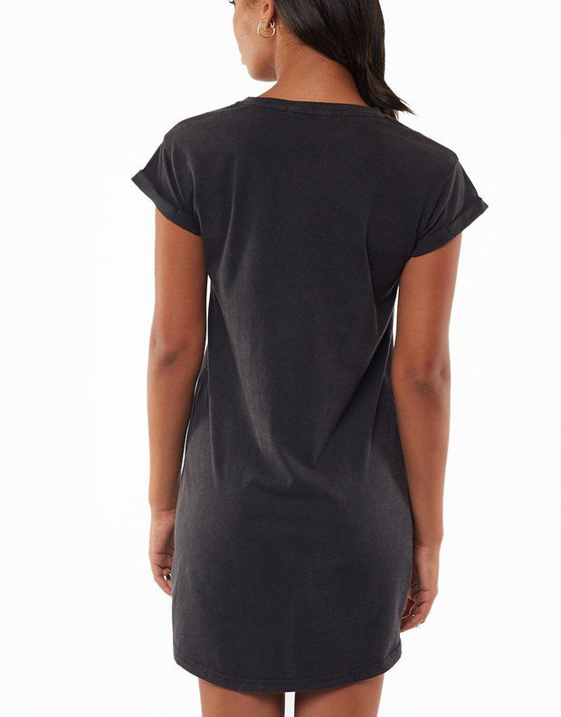Modest Tee Dress Washed Black