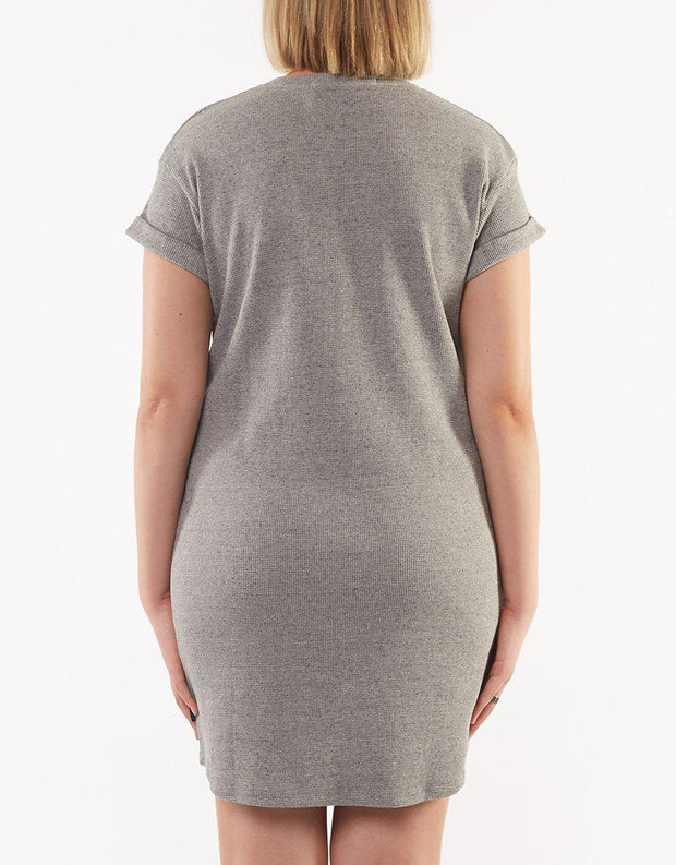 Harlowe Tee Dress Grey Marle